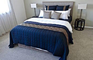 Modern queen mattress and bed